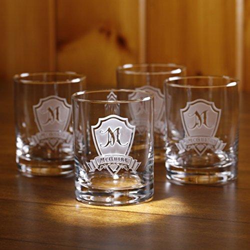 Personalized Rocks Glass Whiskey Scotch Bourbon Glasses SET OF 4