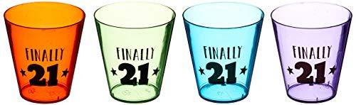 21st Happy Birthday Shot Glasses