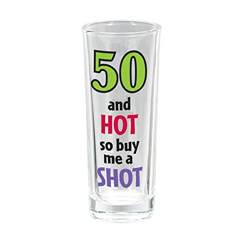 50th Birthday Tall Shot Glass