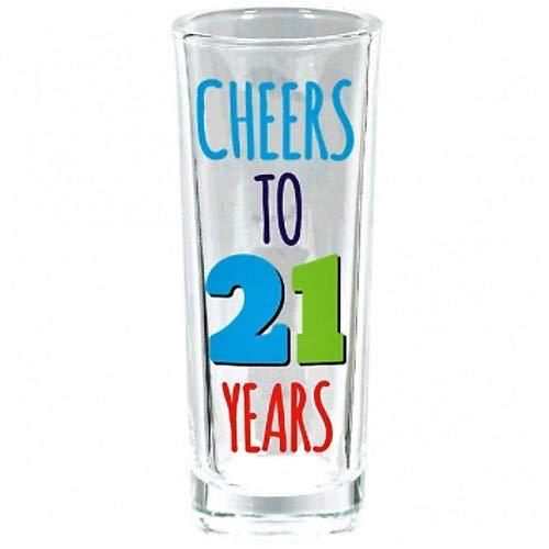 Amscan 210390 21st Birthday shot-glasses 3 oz Multicolor