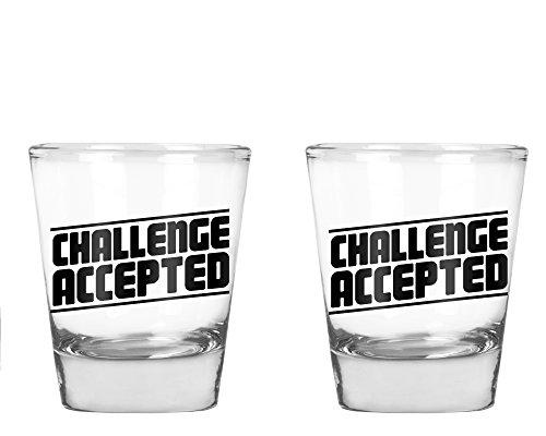 Challenge Accepted - Birthday Gift for men or women - 175 OZ Shot Glass Set 2