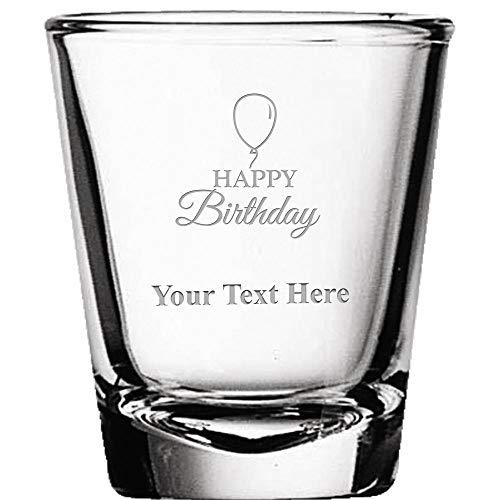 Custom Shot Glasses Personalized Happy Birthday Shot Glass Gift Engraved Prime