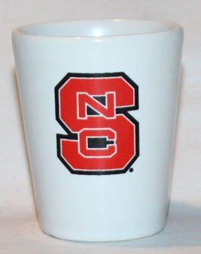 North Carolina State University White Ceramic 15oz Promotional Shot Glass
