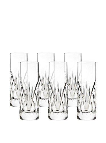 Godinger Dublin Reserve Non-leaded Crystal Barware Shot Glasses Shooters Set of 6