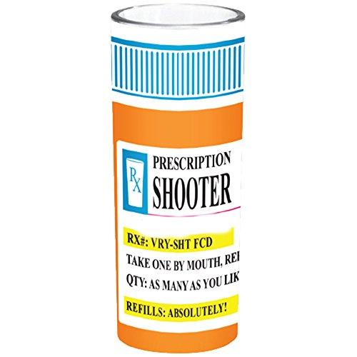 Shooter Shot Glass Prescription RX Pill Bottle Novelty Fun Shot Glass 4 oz