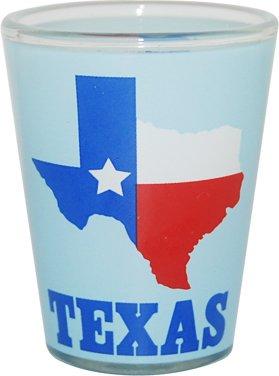 Great State of Texas Souvenir Novelty Shotglasss Light Blue