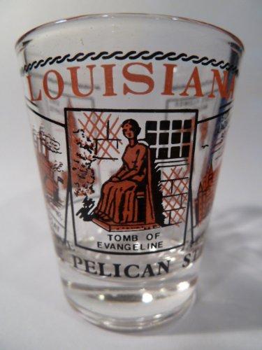 Louisiana Scenery Red Shot Glass