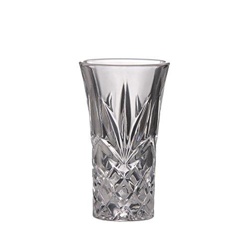 B Brilliant Ashford Shot Glass Lead Free Crystal Clear Shot Glass 2 oz 60ml Set of 4