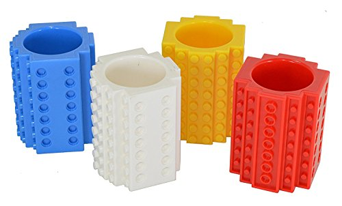 Build-on Brick Shot Glass 4-pack