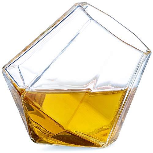 Dragon Glassware Diamond Shot Glasses Premium Designer Cups for Liquor and Spirits 17-Ounces Gift Boxed - Set of 4