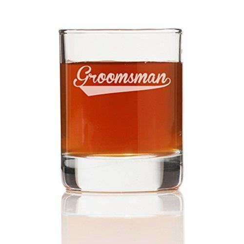 Groomsman Sport Shot Glass Set of 4