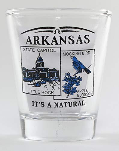 Arkansas State Scenery Blue New Shot Glass