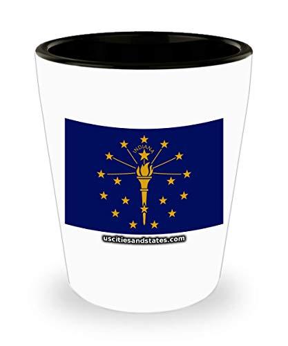 Indiana - State Flag Shot Glass