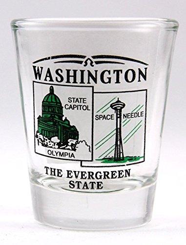 Washington State Scenery Green New Shot Glass