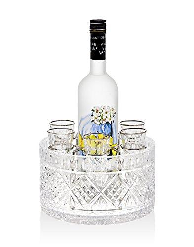 Godinger Silver Art Dublin 8-piece Drink Vodka 15 Oz Shot Glasses Shooters Liquor Set