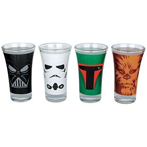 Official star wars set of shot glasses