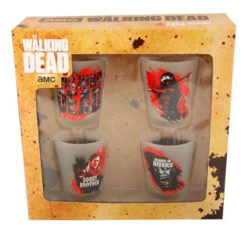 The Walking Dead Shot Glass Set Of 4
