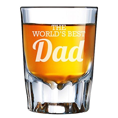 The Worlds Best Dad Engraved Barcraft Fluted Shot Glass