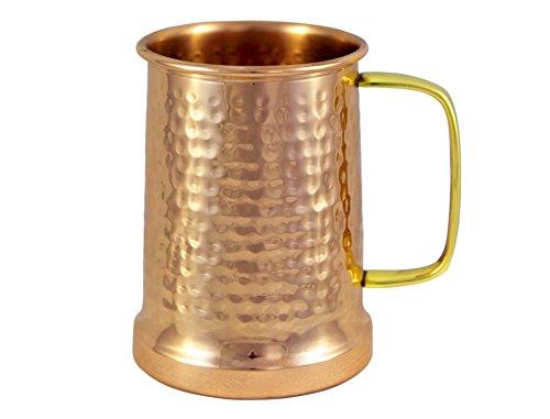 Alchemade Copper Beer Stein - 100 Pure Hammered Copper mug - Heavy Gauge - No lining 20oz
