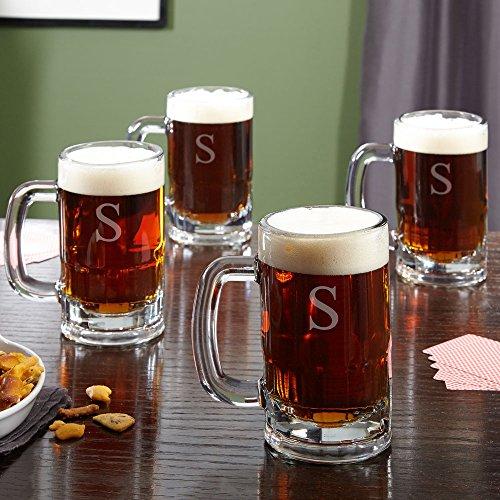 Benton Personalized Beer Mugs Set of 4 Customizable Product