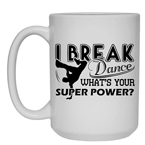 Breakdance Mug Coffee Breakdance White Beer Stein Mug Travel Mugs Ceramic Best Gifts White Mug 15oz