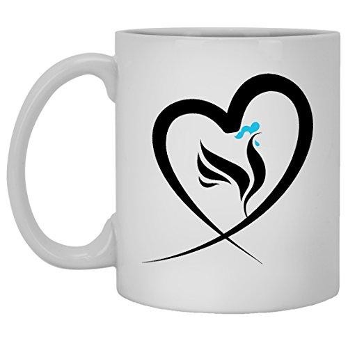 Chicken Mug Coffee Ceramic Chicken Travel Mugs White Beer Stein Mug For You And Family White Mug 11oz