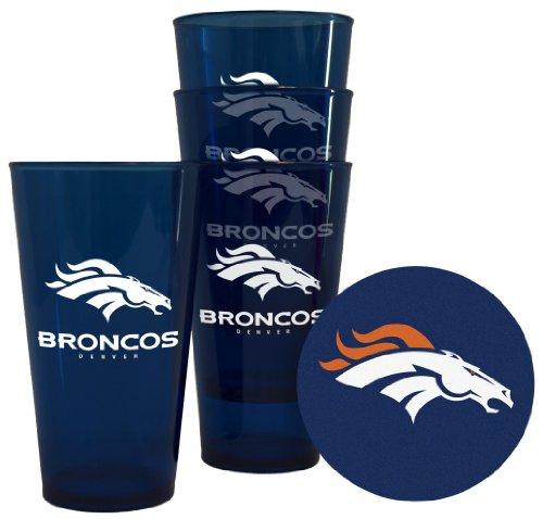 Denver Broncos Plastic Pint Glass Set