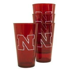 Nebraska Huskers Plastic Pint Glass Set by Boelter Brands