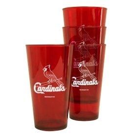 St Louis Cardinals Plastic Pint Glass Set