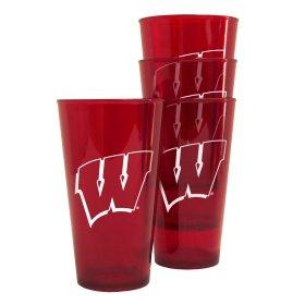 Wisconsin Badgers Plastic Pint Glass Set