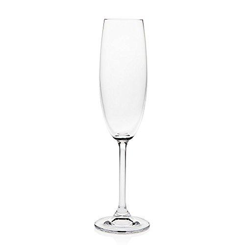 Godinger Meridian 7 Oz Fluted Champagne Glasses - Set of 4