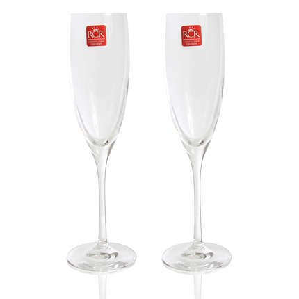Rcr Crystalleria Italiana 458790 Set of 2 Champagne Glasses