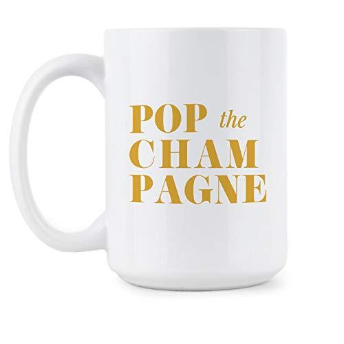 Pop the Champagne Mug New Years Coffee Mug