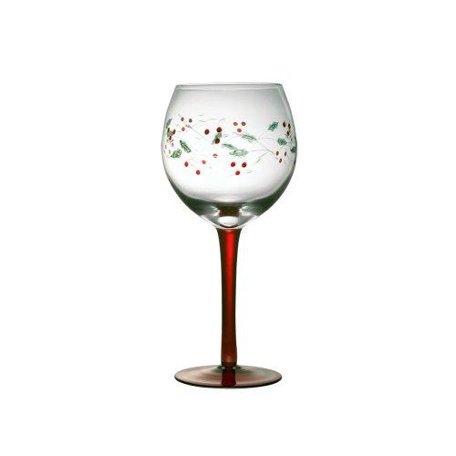 Pfaltzgraff Winterberry Wine Goblet - GreenRed
