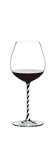 Riedel Fatto A Mano Old World Pinot Noir Wine Glass BlackWhite