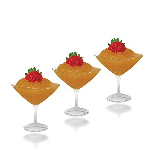 Posh Setting Mini Collection Mini Martini Cups Heavyweight Clear Plastic 15oz Martini Cups Elegant Disposable Dessert Cups 20 CT