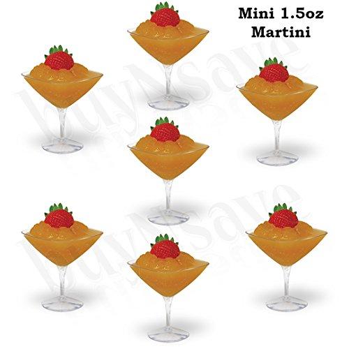 buyNsave Elegant Disposable Heavy Weight Plastic Mini Plastic Dessert CupsAppetizer BowlsParty Dessert Plates 10 15oz Mini martini cup