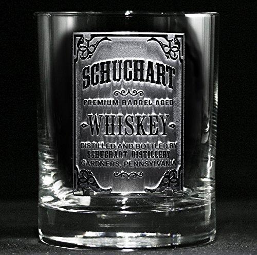 Custom Whiskey Label Glasses Engraved Bourbon Glasses SET OF 4 wskylabel