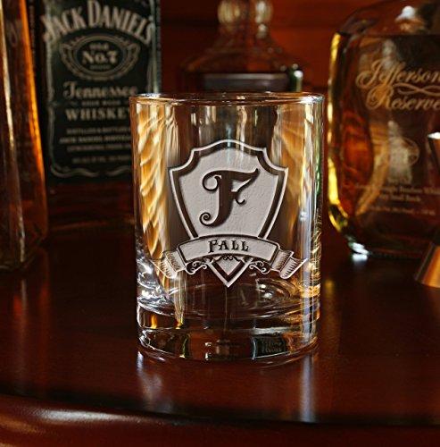 Engraved Whiskey Scotch Bourbon Glasses SET OF 2 M30