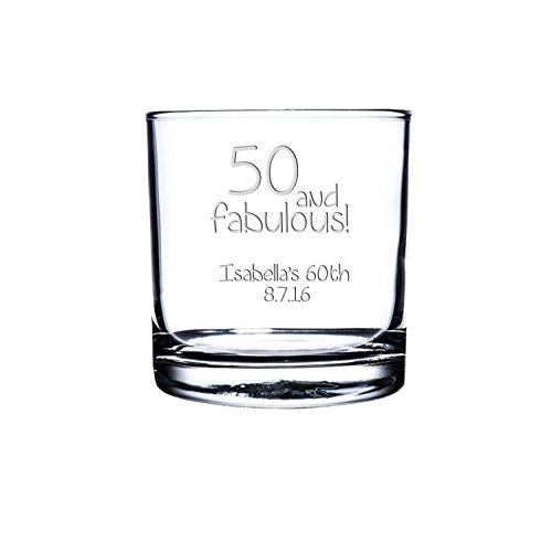 Etched Scotch GlassPersonalized Rocks Glass Custom Whiskey Glass Engraved Bourbon Glass Birthday scotch Glasses