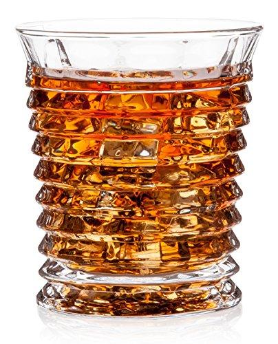Tornado Whiskey Glasses Gift Pack Set Of 2 - Unique Scotch Lead Free Liquor Tumblers Dishwasher Safe Classic Old Fashioned Barware Rum Vodka Glassware Elegant Ultra Clarity Cocktail Bourbon Glass