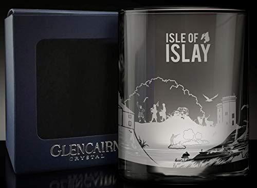 Glencairn ISLE of Islay Skyline Scotch Whisky Rocks SNIFTER Glass
