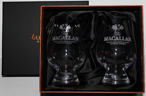 MACALLAN SINGLE MALT SCOTCH WHISKY GLENCAIRN TWO GLASS BOXED SET