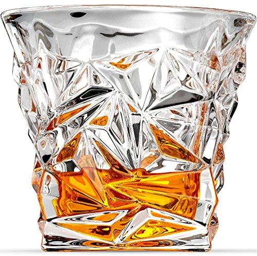 Diamond-Cut Whiskey Glasses Scotch Glasses By Ashcroft Glass - Set Of 2