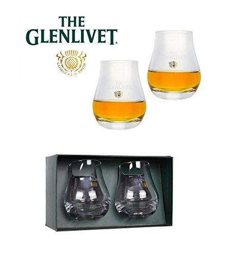 The Glenlivet Scotch Whiskey Glass  Set of 2 Glasses