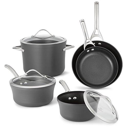 Calphalon 1876784 Contemporary Hard-Anodized Aluminum Nonstick Cookware Set 8-Piece Black
