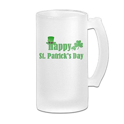 Carylon Mcgee Happy StPatricks Day Premium Beautiful Frosted Beer Glass Beer Cup Beer Mugs Homeusage Cups Mugs Coffee Mugs Water Mugs Beer Glasses Beer Mugs Steins