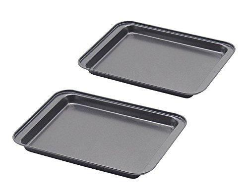 Baking Sheet Set of 2 SS&CC Profession 8 Inch Nonstick Sheet Pan Set Dishwasher Safe Organic Environmental Friendly Premium Coating Carbon Steel Half Toaster Oven Pan Tray Replacement