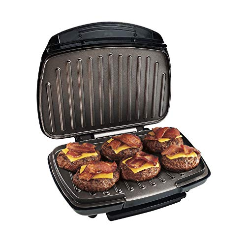 Health and Home 2-Serving Classic Plate Grill Maker and Panini Press Black KS-306