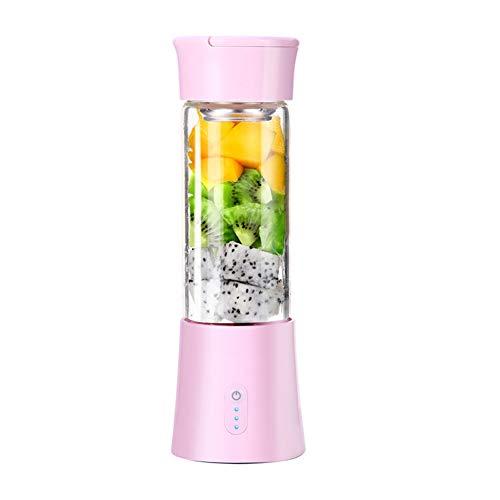 FAgdsyigao Portable Electric Fruit Juicer Cup Household Kitchen USB Smoothie Maker Blender Squeezer Bottle Pink